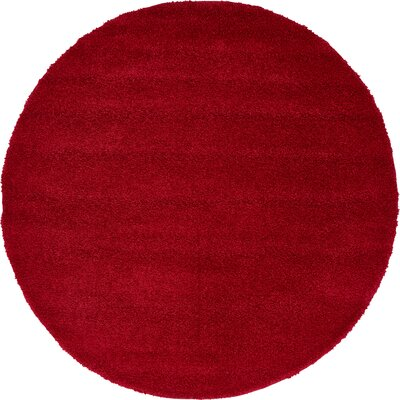 Sydnee Red Area Rug Rug Size: Round 6