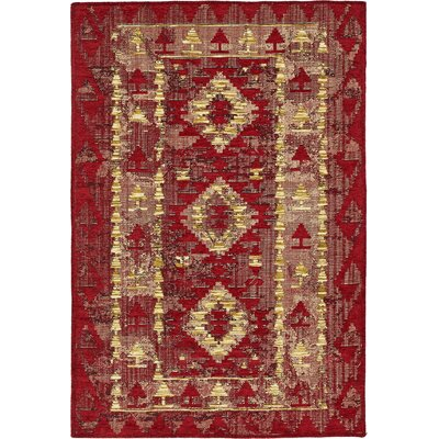 Bhakta Red Area Rug Rug Size: 7 x 10
