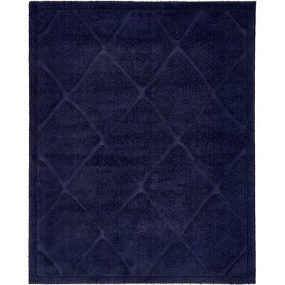 Chester Navy Blue Shag Area Rug Rug Size: Rectangle 8 x 10