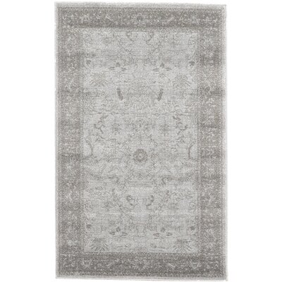 Chappel Light Gray Area Rug Rug Size: 33 x 53