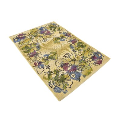 Ronda Pink/Green Indoor/Outdoor Area Rug Rug Size: Rectangle 4 x 6