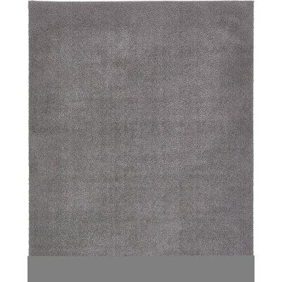 Virgil Solid Shag Dark Gray Area Rug Rug Size: Rectangle 8 x 10