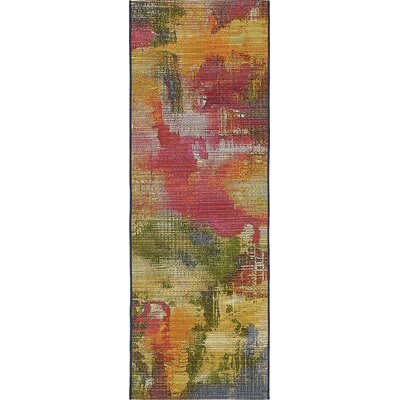 Ronda Green/Blue Indoor/Outdoor Area Rug Rug Size: Runner 2 x 6
