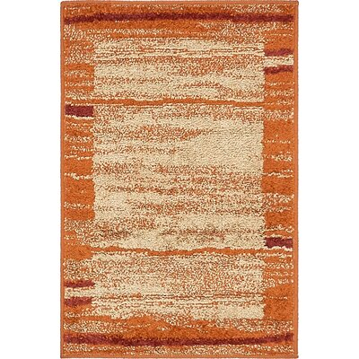 Christie Terracotta Area Rug Rug Size: 2 x 3