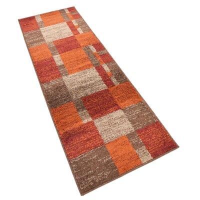 Bryan Burgundy/Orange Area Rug Rug Size: Runner 2 x 6