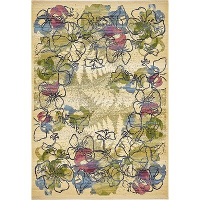 Ronda Pink/Green Indoor/Outdoor Area Rug Rug Size: 4 x 6