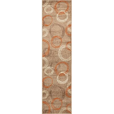 Christie Light Brown Area Rug Rug Size: Runner 26 x 10