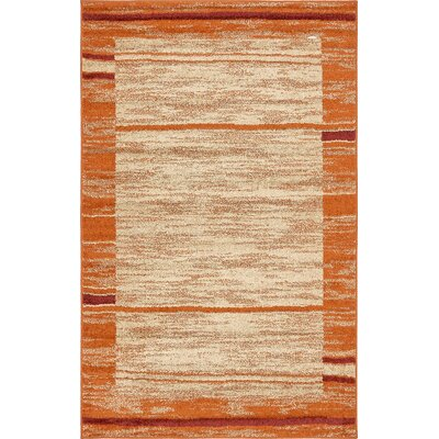 Bryan Terracotta Tibetan Area Rug Rug Size: Rectangle 5 x 8