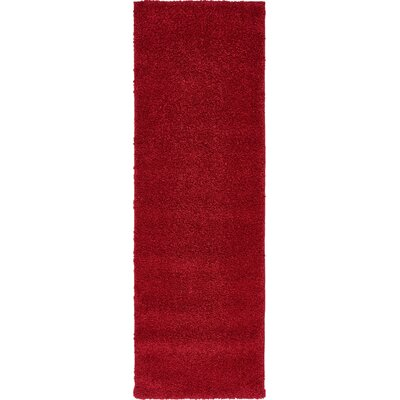 Sydnee Red Area Rug Rug Size: Runner 22 x 67