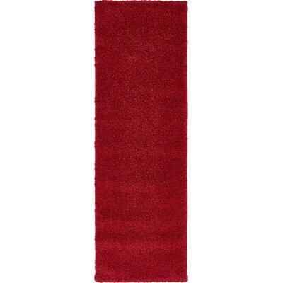 Sydnee Red Area Rug Rug Size: Runner 22 x 67