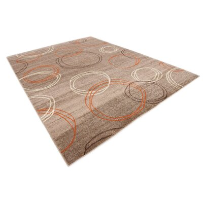Christie Light Brown Area Rug Rug Size: 9 x 12
