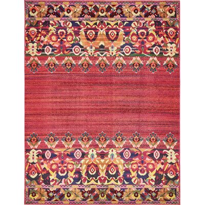 Rialto Red Area Rug Rug Size: 10 x 13