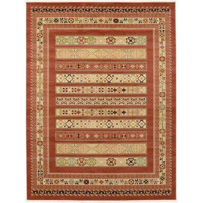 Foret Noire Rust Red Area Rug Rug Size: Rectangle 9 x 12