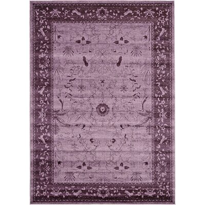 Shailene Purple Area Rug Rug Size: Rectangle 7 x 10