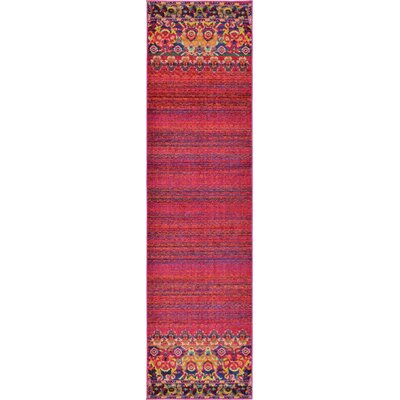Rialto Red Area Rug Rug Size: Runner 27 x 10