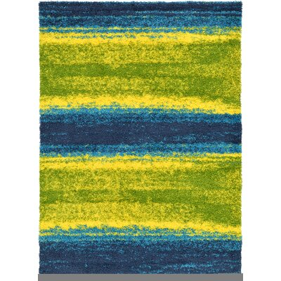 Suzanne Blue/Yellow Area Rug Rug Size: 7 x 10