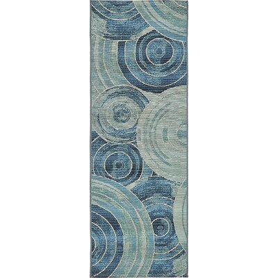 Ivy Light Blue Indoor/ Outdoor Area Rug Rug Size: Rectangle 6 x 6