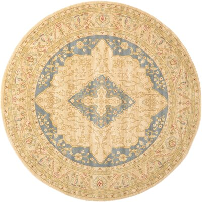 Willow Cream Area Rug Rug Size: Round 8