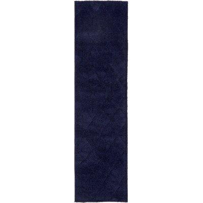 Chester Navy Blue Area Rug Rug Size: Runner 27 x 10