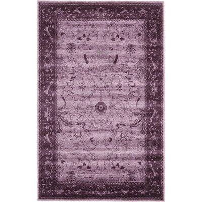 Shailene Purple Area Rug Rug Size: Rectangle 5 x 8
