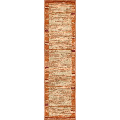 Christie Terracotta Area Rug Rug Size: Runner 26 x 10
