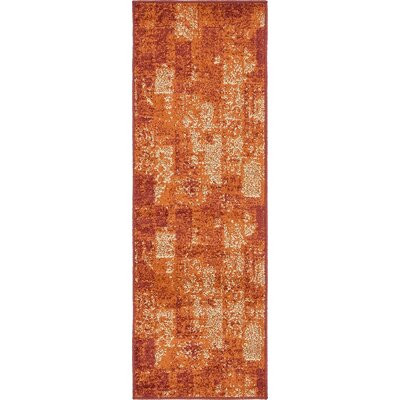 Christie Terracotta Area Rug Rug Size: Runner 2 x 6