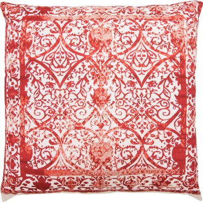 Shailene Throw Pillow Color: Ivory/Red/Terracotta