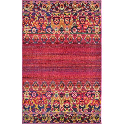 Rialto Red Area Rug Rug Size: 5 x 8