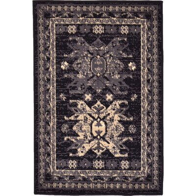 Valley Black Area Rug Rug Size: 2'2