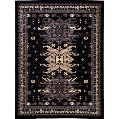 Valley Black Area Rug Rug Size: 910 x 13