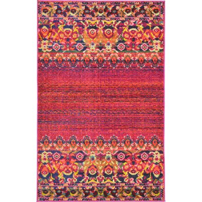 Rialto Red Area Rug Rug Size: 33 x 53