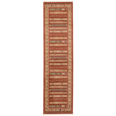 Foret Noire Rust Red Area Rug Rug Size: Runner 27 x 10