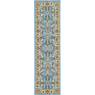 Essehoul Light Blue Area Rug Rug Size: Runner 27 x 10