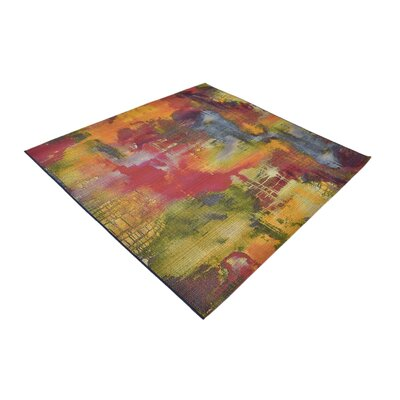 Ronda Green/Blue Indoor/Outdoor Area Rug Rug Size: Square 6