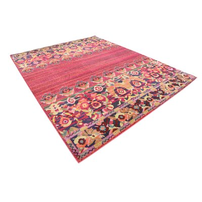 Rialto Red Area Rug Rug Size: Rectangle 8 x 10