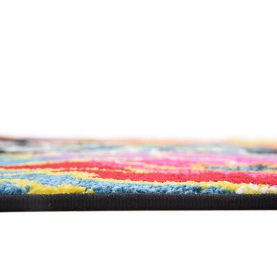 Clarke Black Area Rug Rug Size: Rectangle 5 x 8