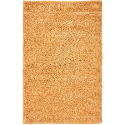 Craig Orange Area Rug Rug Size: 33 x 53