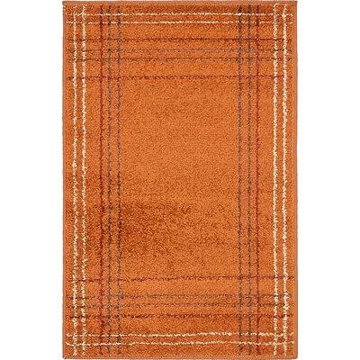 Bryan Terracotta Area Rug Rug Size: 2 x 3