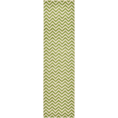 Leslie Green Area Rug Rug Size: Runner 27 x 10