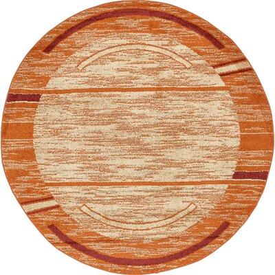 Bryan Terracotta Tibetan Area Rug Rug Size: Round 8