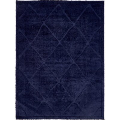 Chester Navy Blue Area Rug Rug Size: 9 x 12