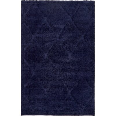 Chester Navy Blue Area Rug Rug Size: 5 x 8