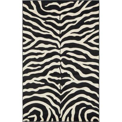 Leif Black Area Rug Rug Size: 5 x 8