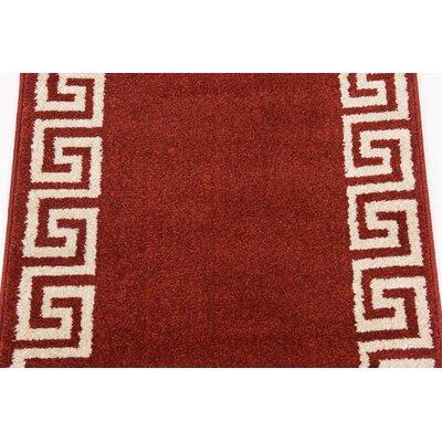 Gemstone Red/Beige Area Rug Rug Size: 2 x 3