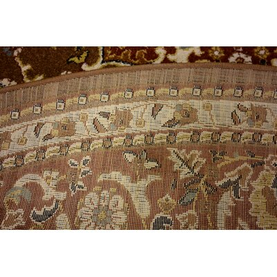 Anghal Brown Area Rug Rug Size: Round 8