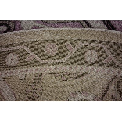 Irma Traditional Purple Area Rug Rug Size: Round 8