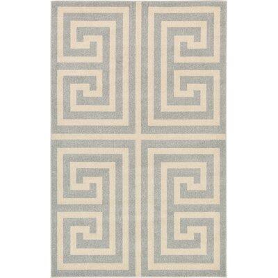 Ellery Geometric Gray Area Rug Rug Size: 5 x 8