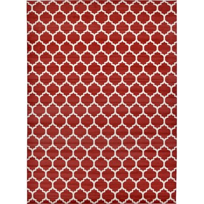 Moore Red Area Rug Rug Size: Rectangle 13 x 18