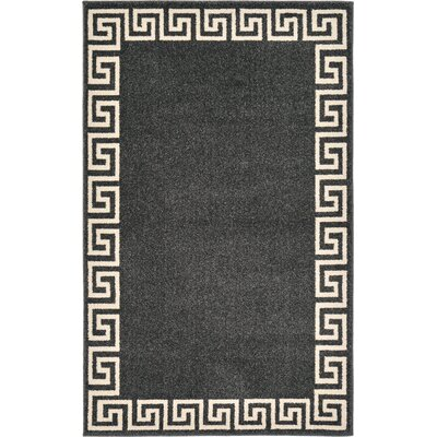 Cendrillon Charcoal Area Rug Rug Size: Rectangle 33 x 53