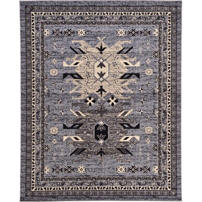Valley Gray Area Rug Rug Size: 8 x 10